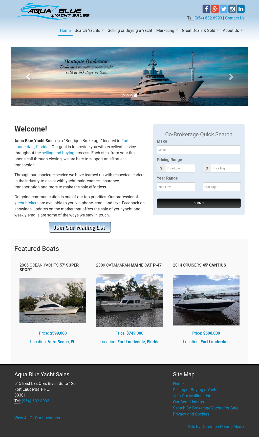 Aqua Blue Yacht Sales Competitors, Revenue and Employees