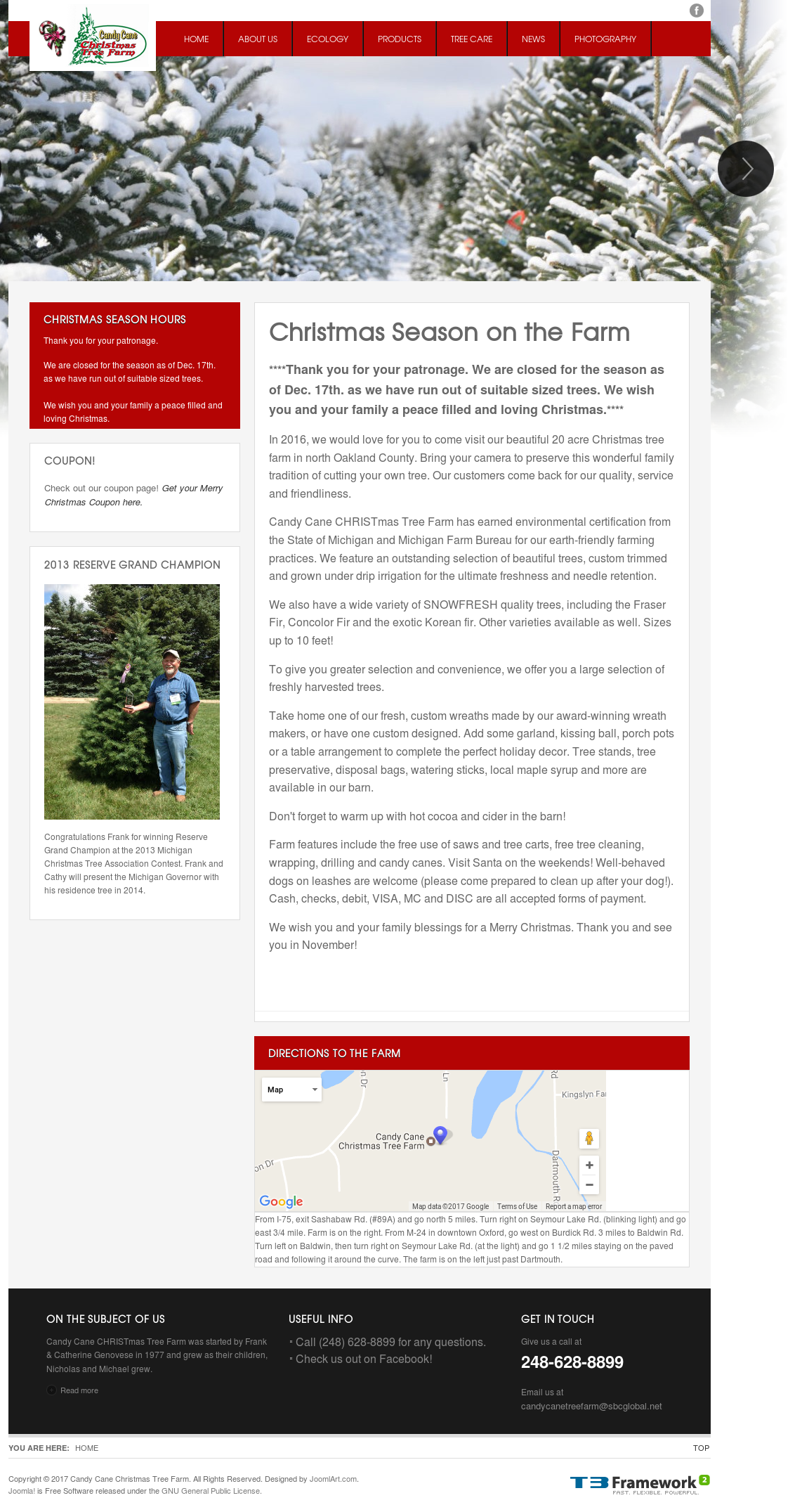 See screenshot ». + See more website history. Owler has collected 12 screenshots of Candy Cane Christmas Tree Farm's ...