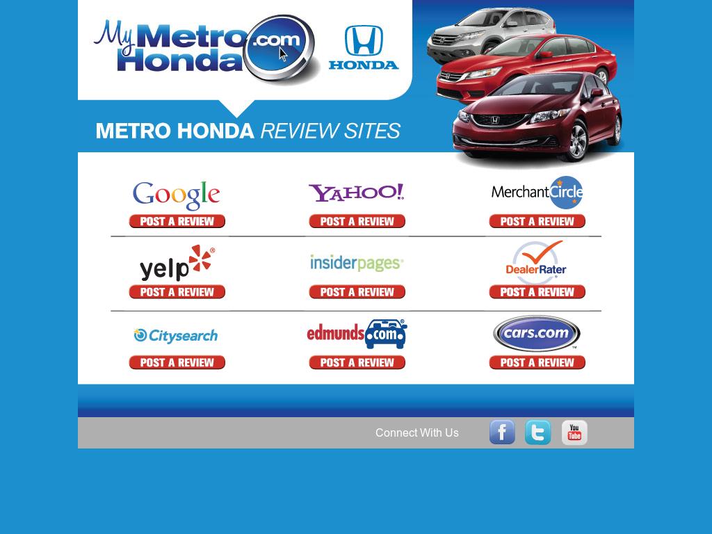 Metro Honda   Jersey City Website History