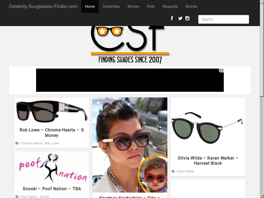 d8aaa09fe8d4 Celebrity Sunglasses Finder Competitors, Revenue and Employees - Owler  Company Profile