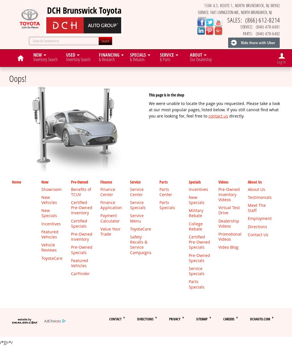 Dch Brunswick Toyota Website History