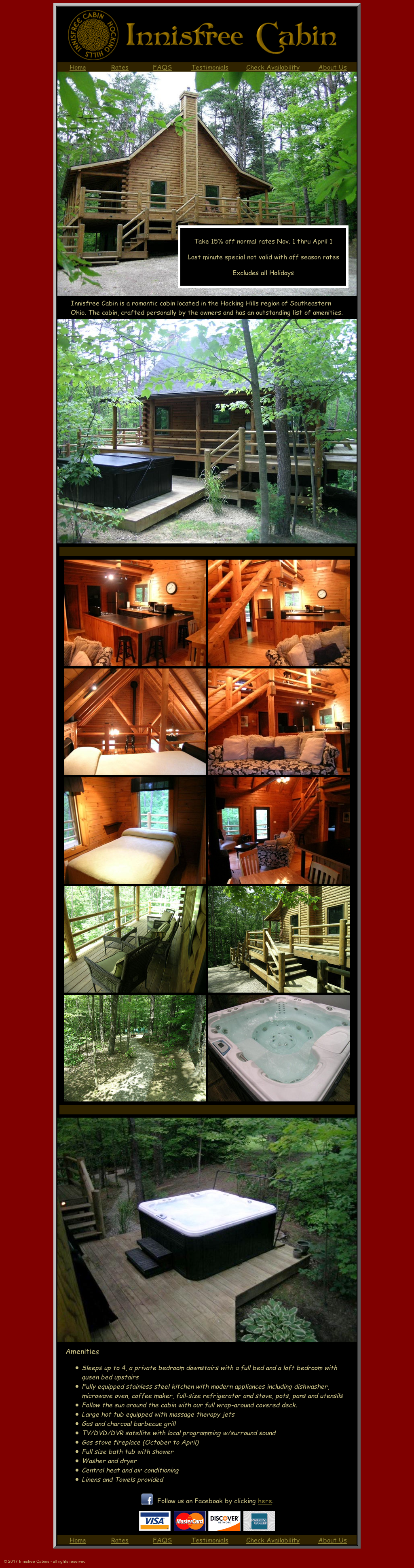 hideaway cabins rentals hocking den in check room family cabin fox availability hills