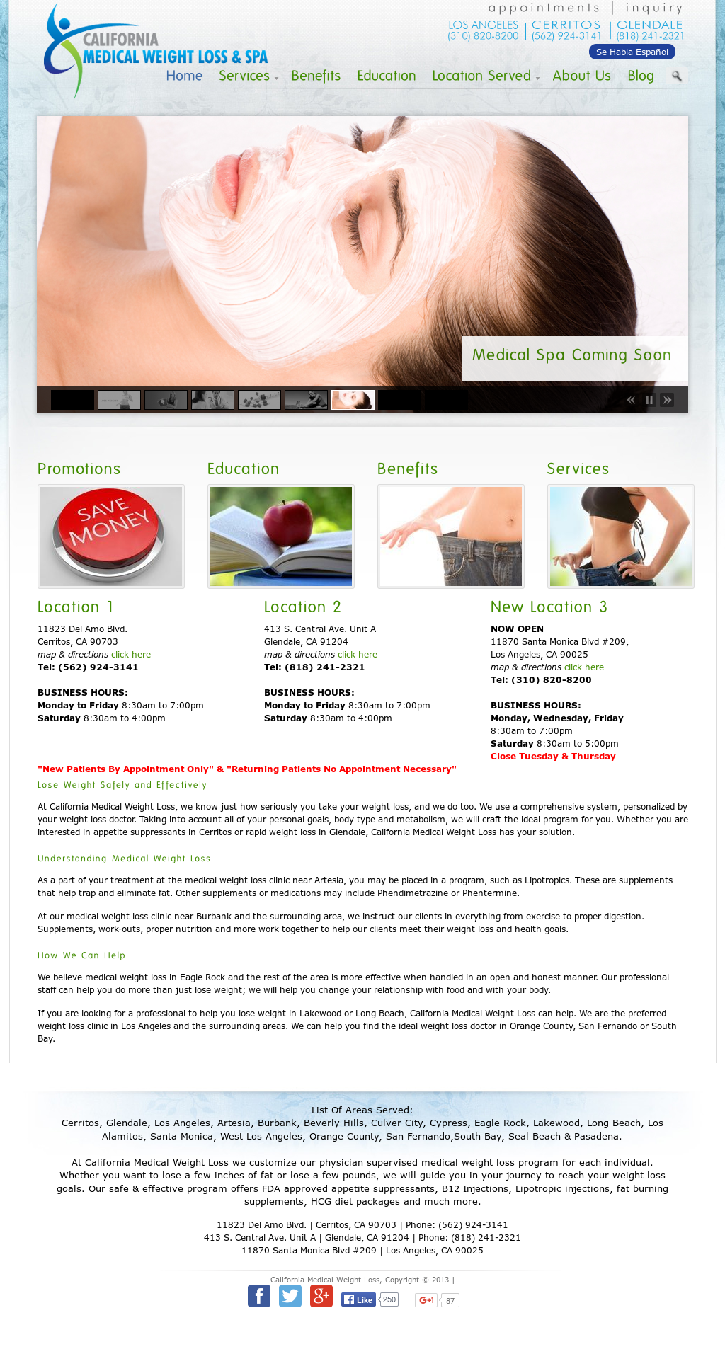 California Medical Weightloss Spa Competitors Revenue And