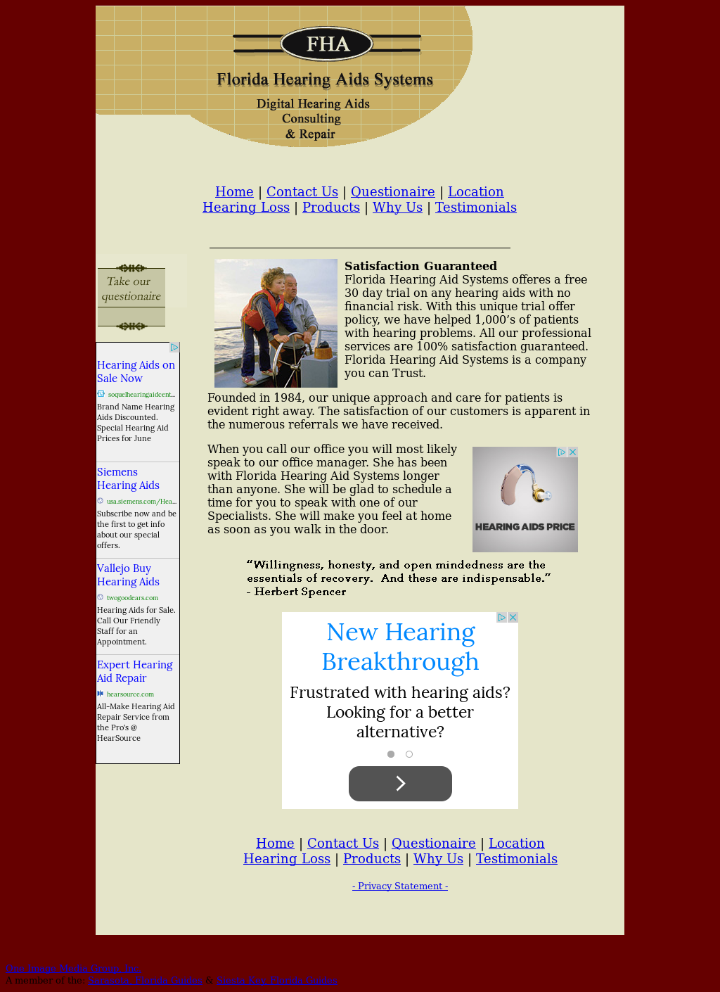 Florida Hearing Aid Systems Competitors, Revenue and