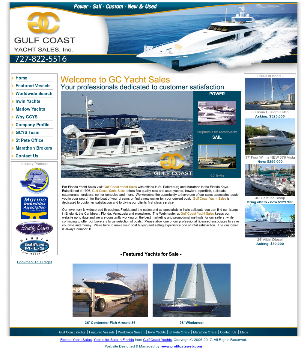 Gulfcoastyachtsales Competitors, Revenue and Employees