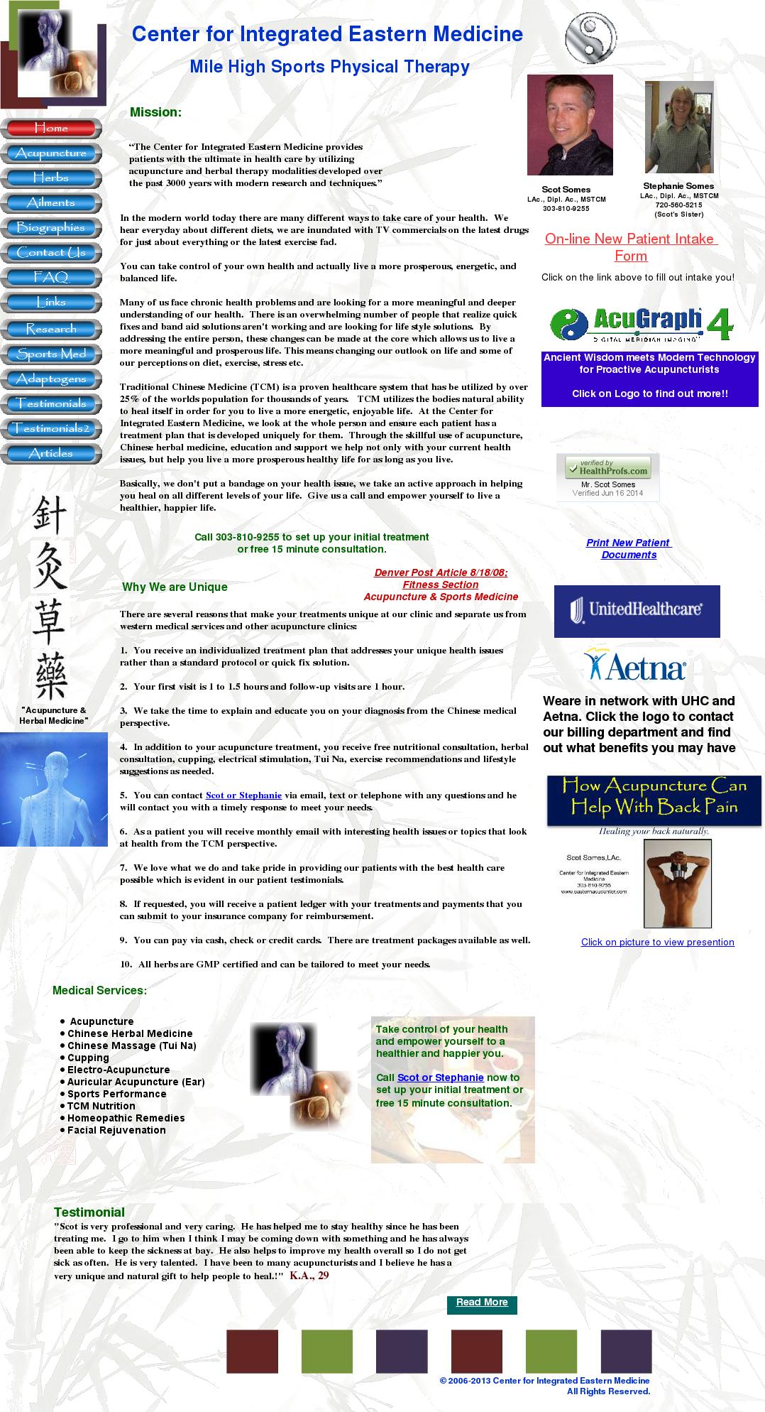 Center for Integrated Medicine Competitors, Revenue and