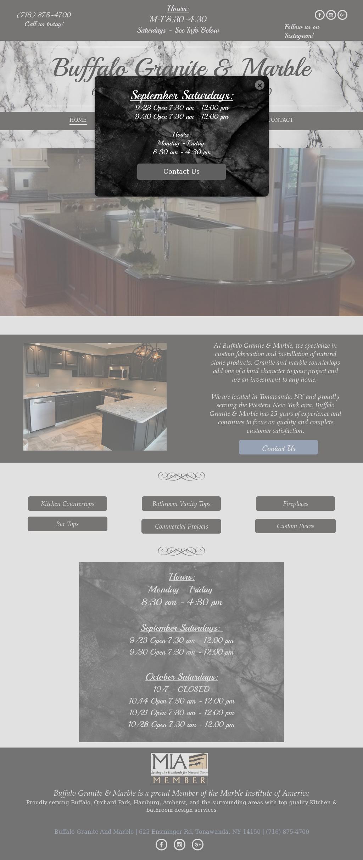 Buffalo Granite Marble S Website Screenshot On