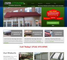 King Awnings Website History