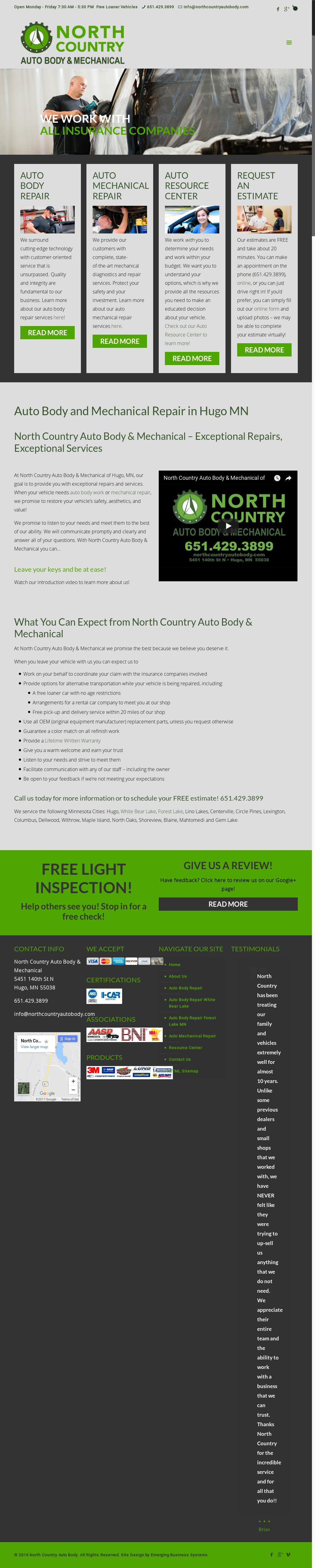 North Country Auto >> North Country Auto Body Mechanical Competitors Revenue
