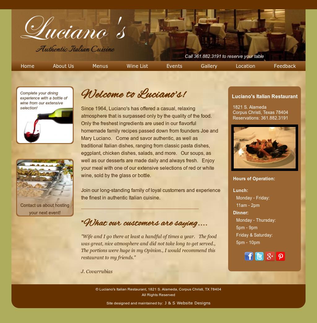 Luciano S Italian Restaurant Competitors Revenue And