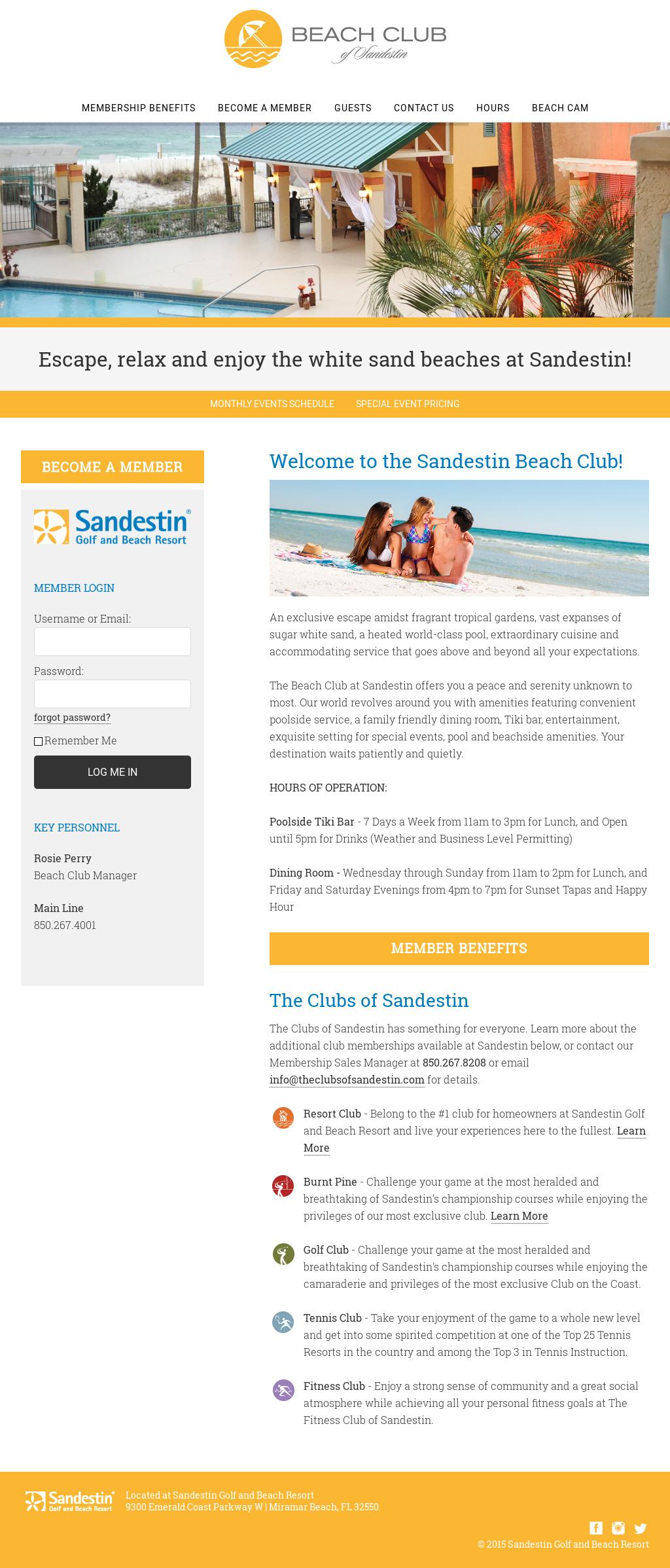 sandestin beach club cam