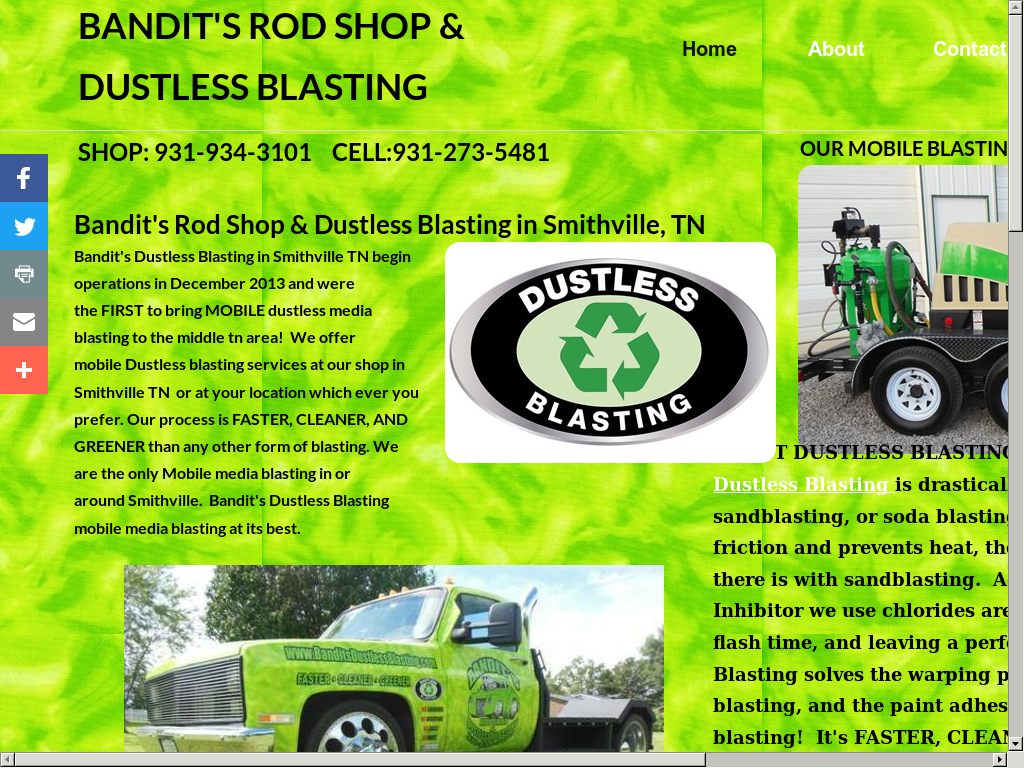 Bandit's Mobile Dustless Blasting Competitors, Revenue and Employees
