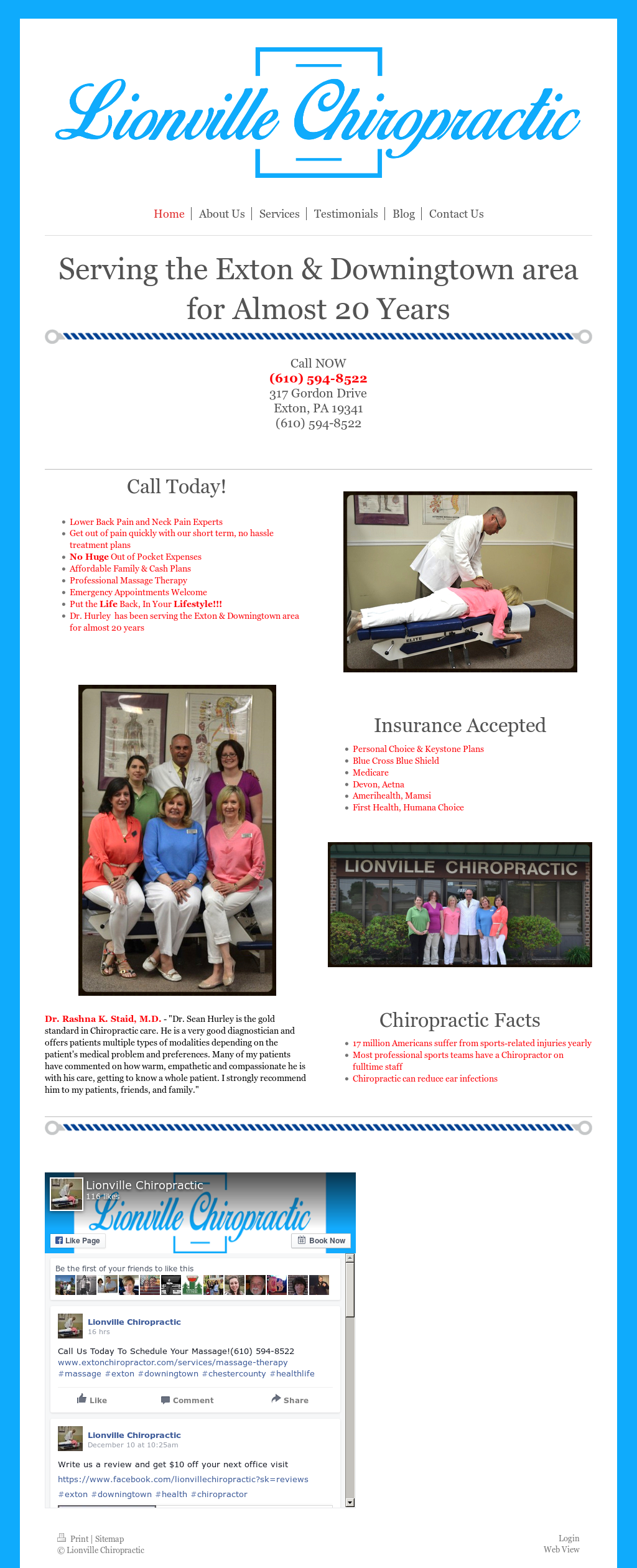 Lionville Chiropractic Competitors Revenue And Employees