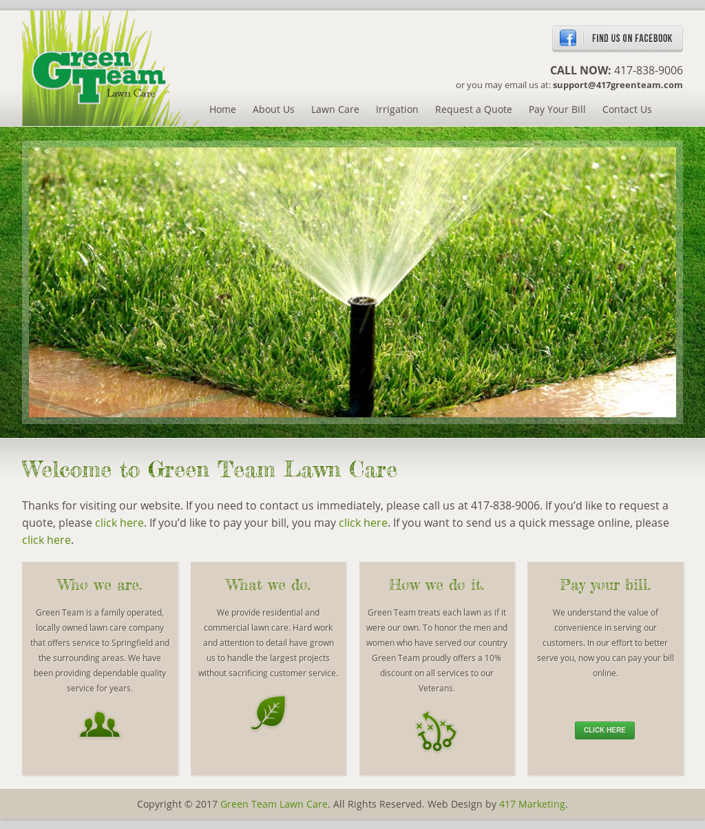 Green Team Lawn Care Website History