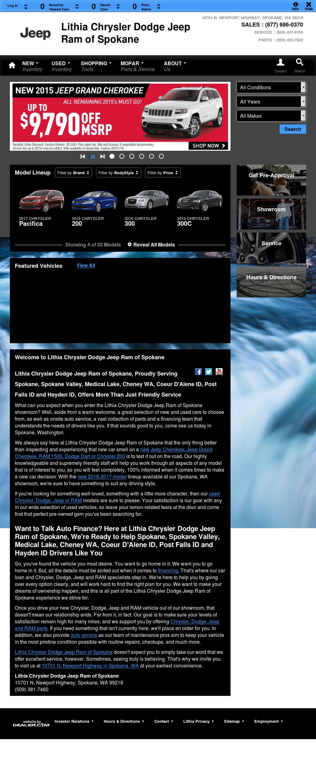 Lithia Chrysler Dodge Jeep Ram Of Spokane Compeors Revenue And Employees Owler Company Profile