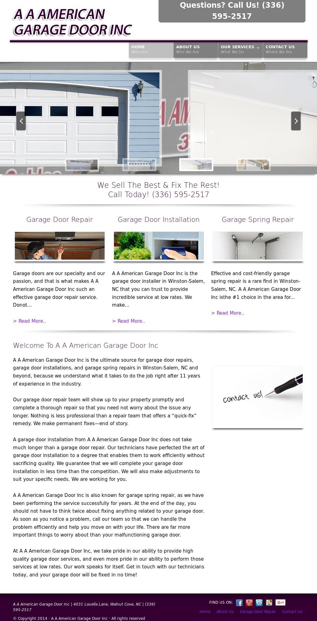 Aa American Garage Door Company Website History