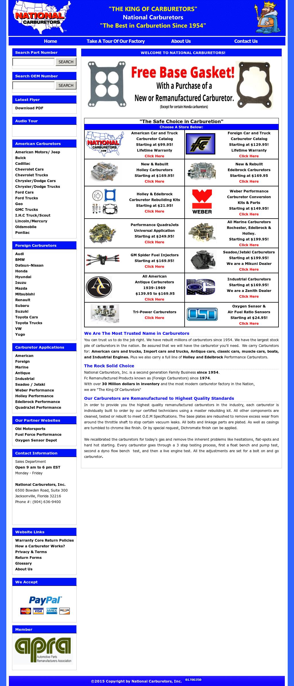 National Carburetors Competitors, Revenue and Employees