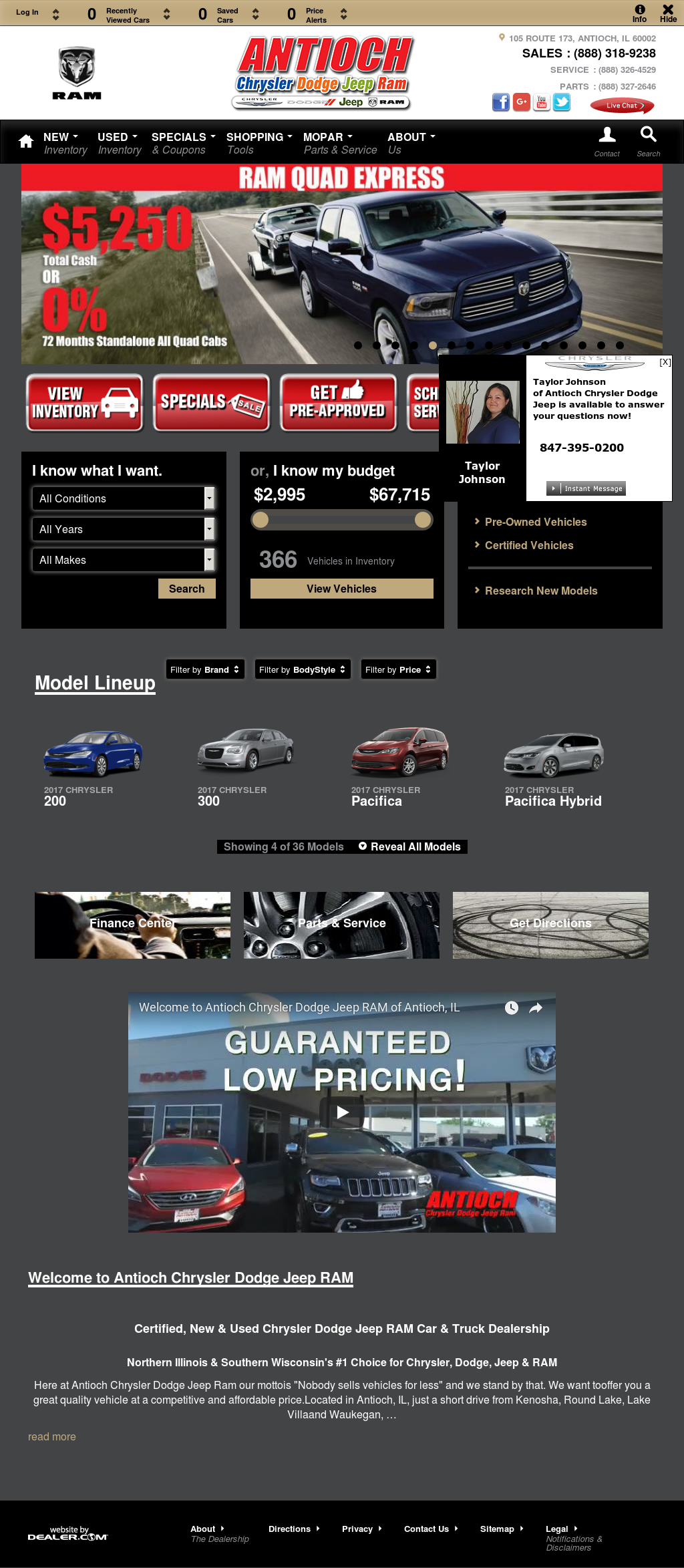 Antioch Chrysler Dodge Jeep U0026 Ramu0027s Website Screenshot On ...