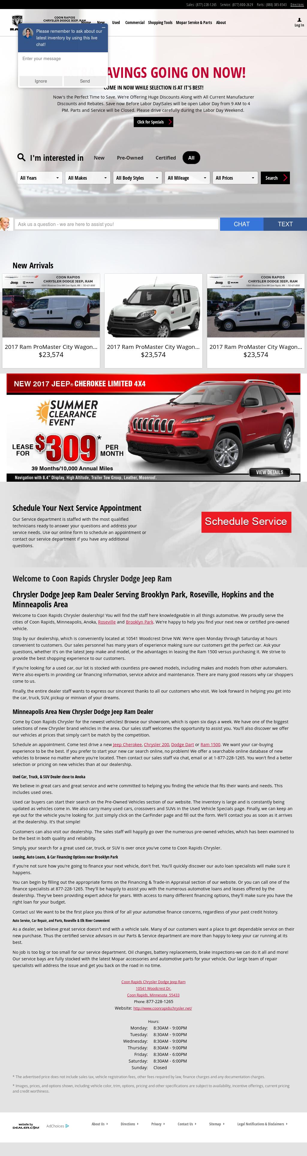 Coon Rapids Chrysler Dodge Jeep Ram petitors Revenue and