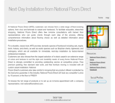 National Floors Direct Website History