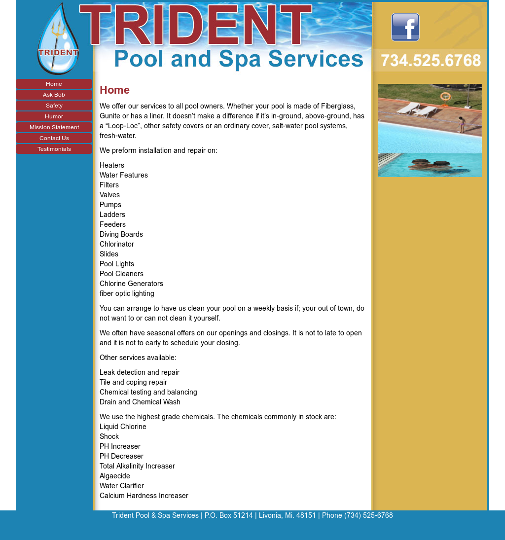 Trident Pool And Spa Services Competitors, Revenue and