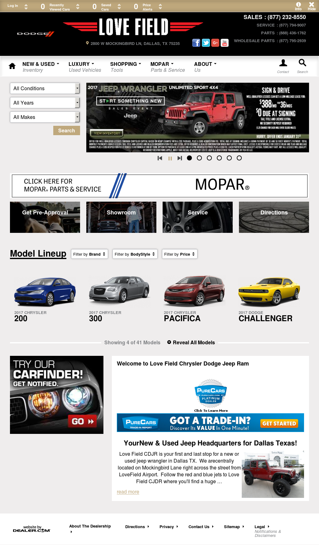 Love Field Chrysler Dodge Jeep Ram Competitors, Revenue And Employees    Owler Company Profile