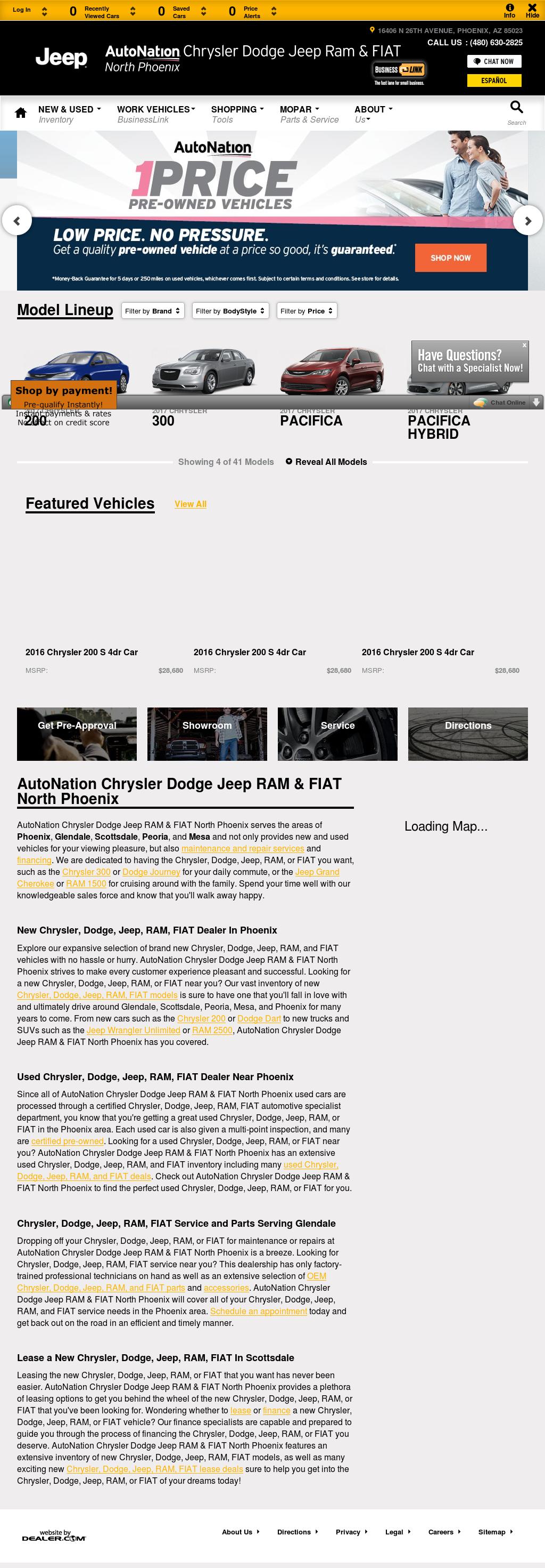 Autonation North Phoenix >> Autonation Chrysler Dodge Jeep Ram North Phoenix Competitors