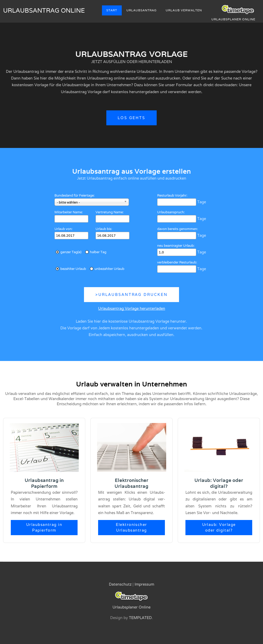 timetape website history - Urlaubsantrag Muster