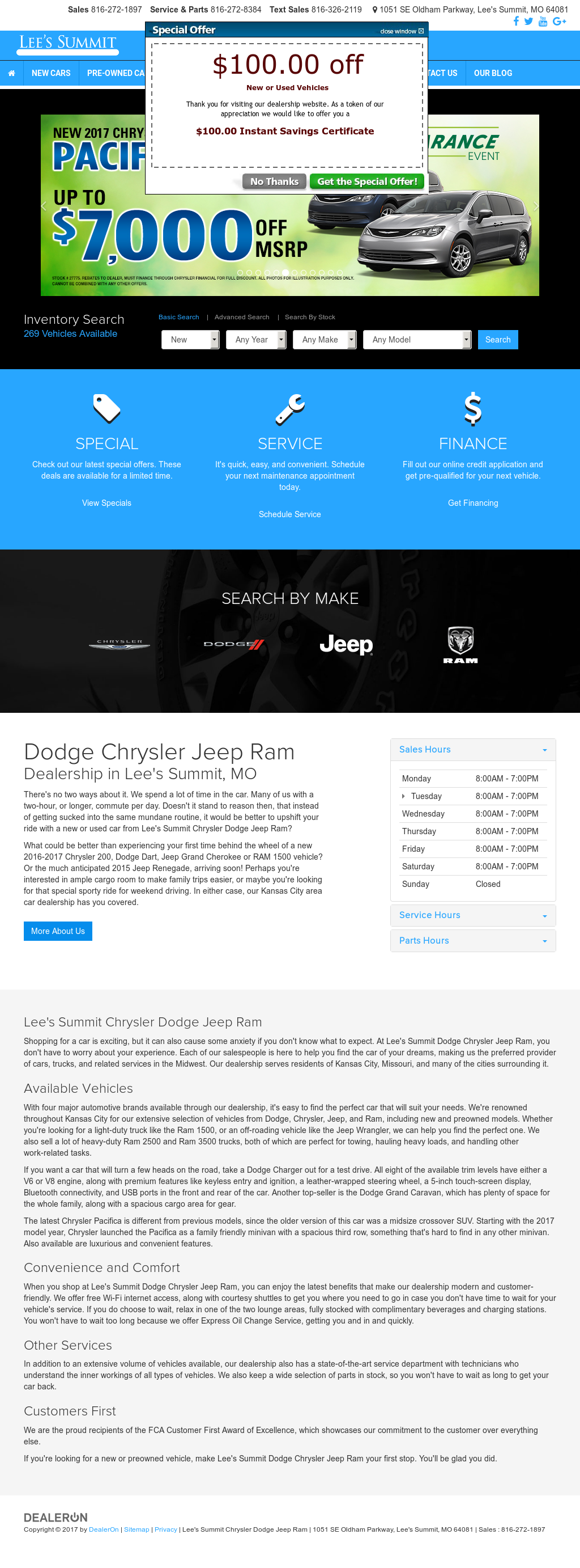 Lee s Summit Chrysler Dodge Jeep Ram petitors Revenue and