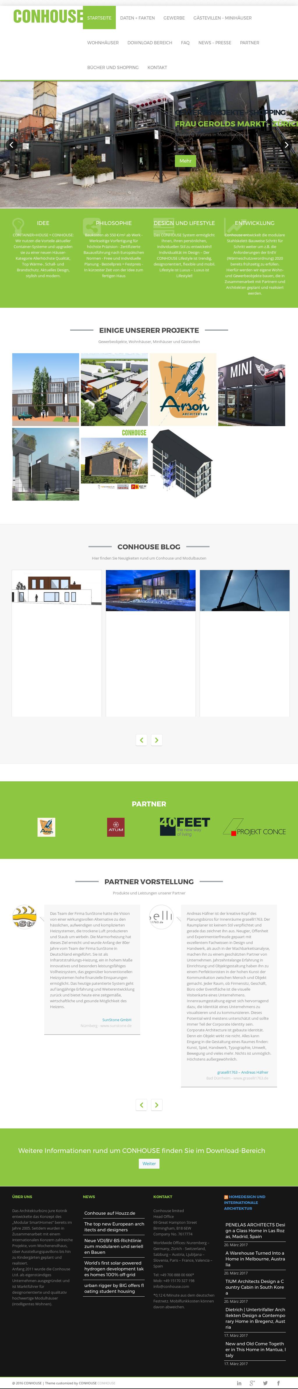 Fesselnde Conhouse Referenz Von Website History