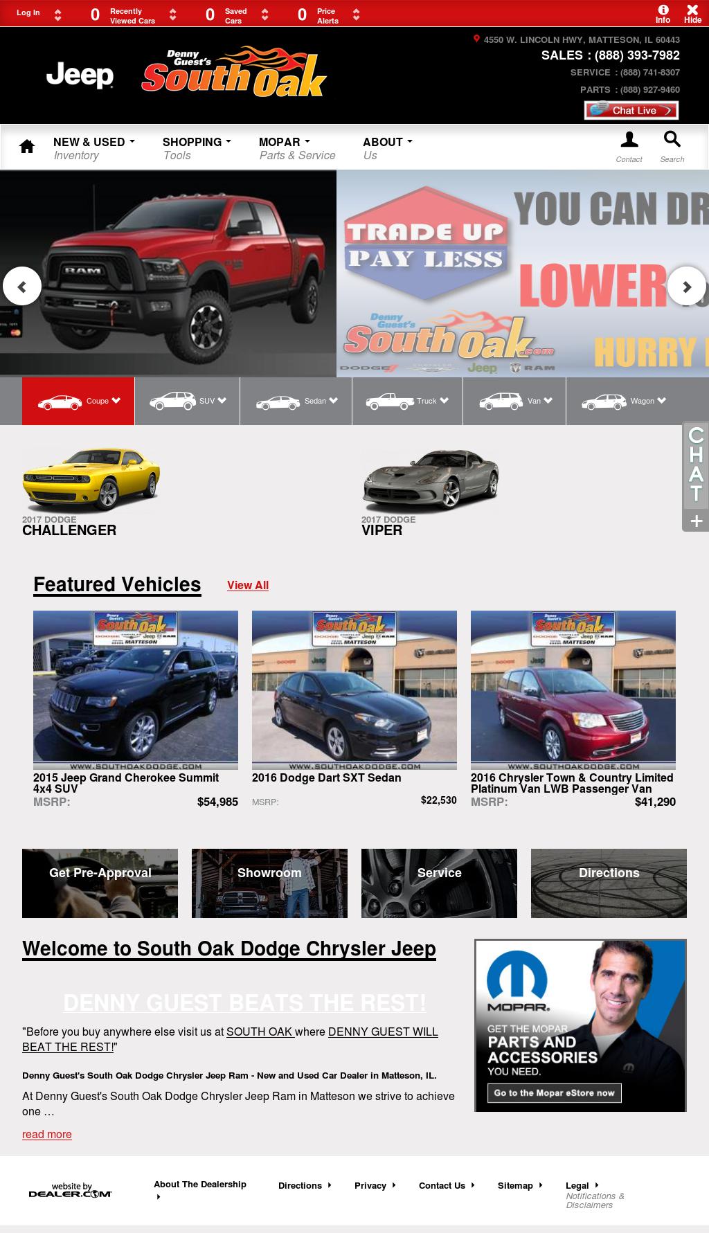 South Oak Dodge Chrysler Jeep Ram Website History