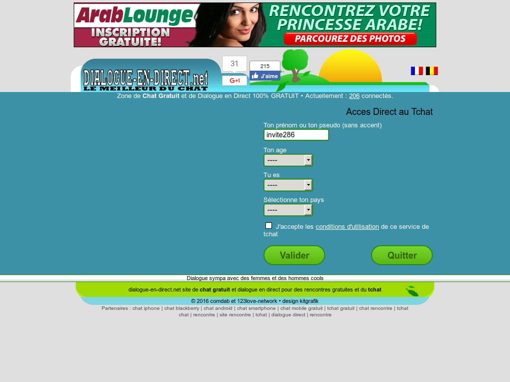 dialogue en direct website history - Chatt Gratuit