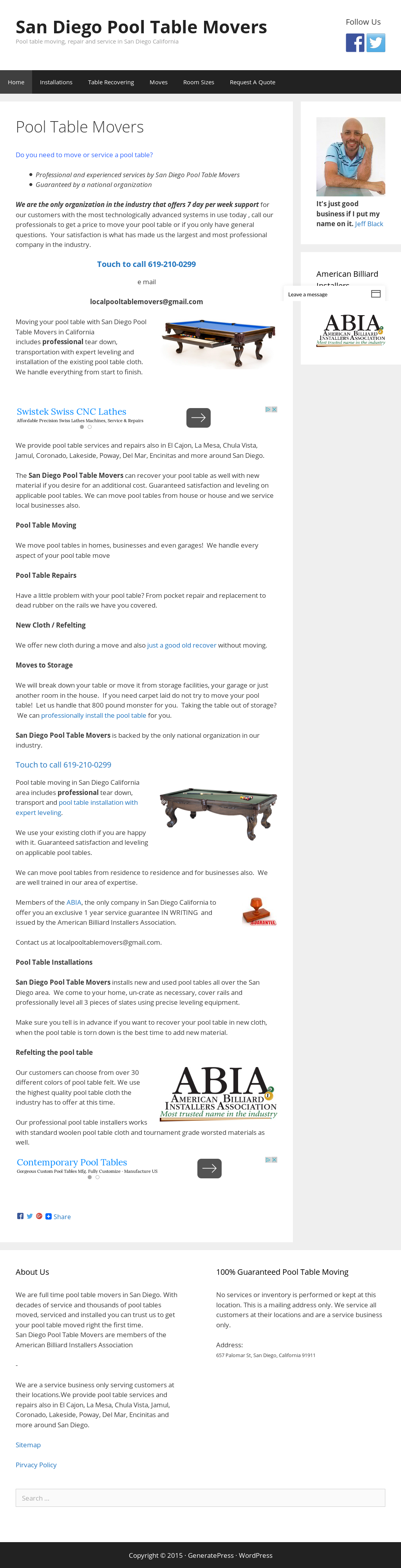 San Diego Pool Table Movers Competitors Revenue And Employees - Local pool table movers