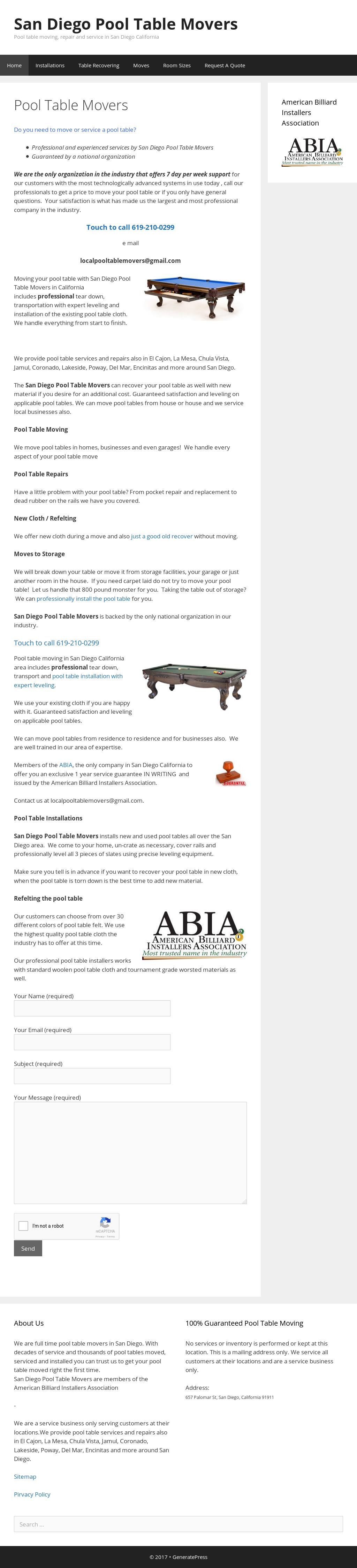 Incroyable San Diego Pool Table Movers Website History