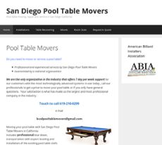 San Diego Pool Table Movers Website History