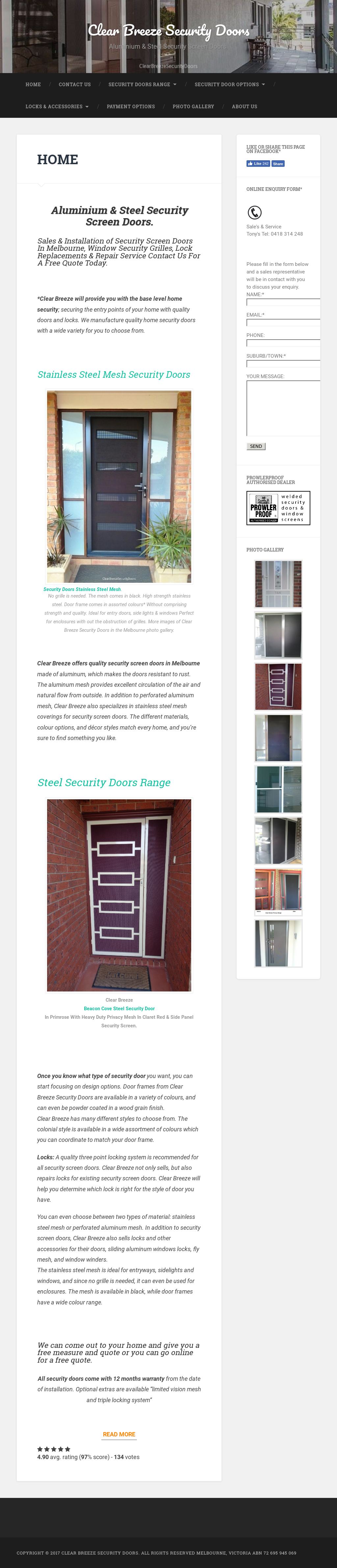 Clear Breeze Security Doors Competitors Revenue And Employees
