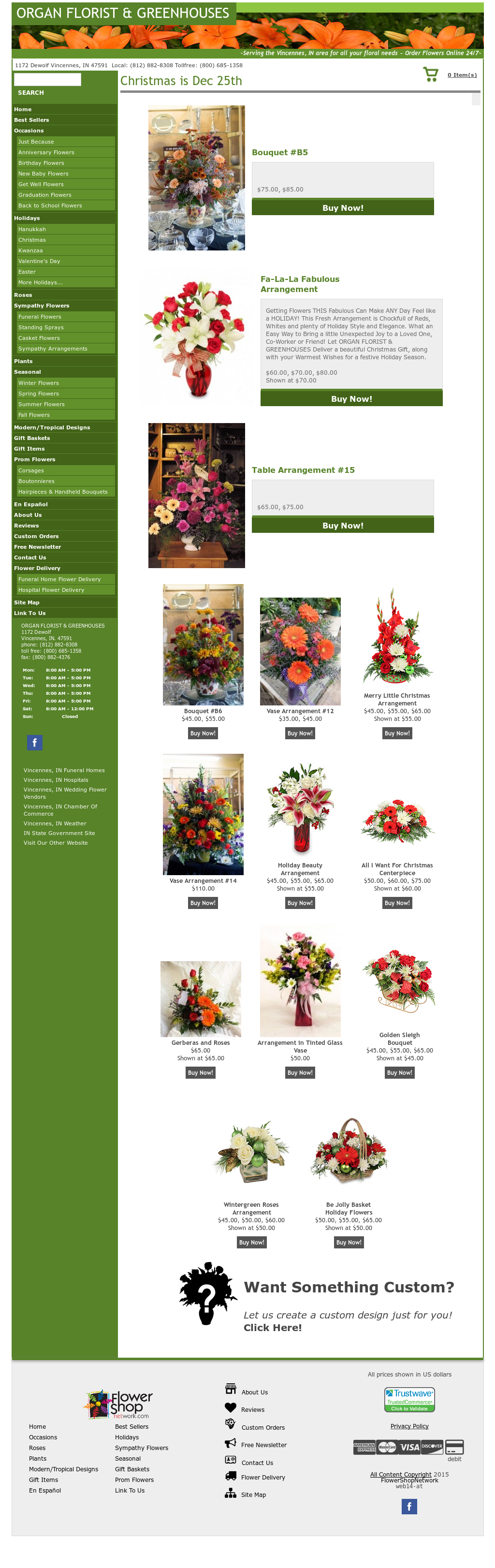 Organ Florist & Greenhouses Competitors, Revenue and Employees