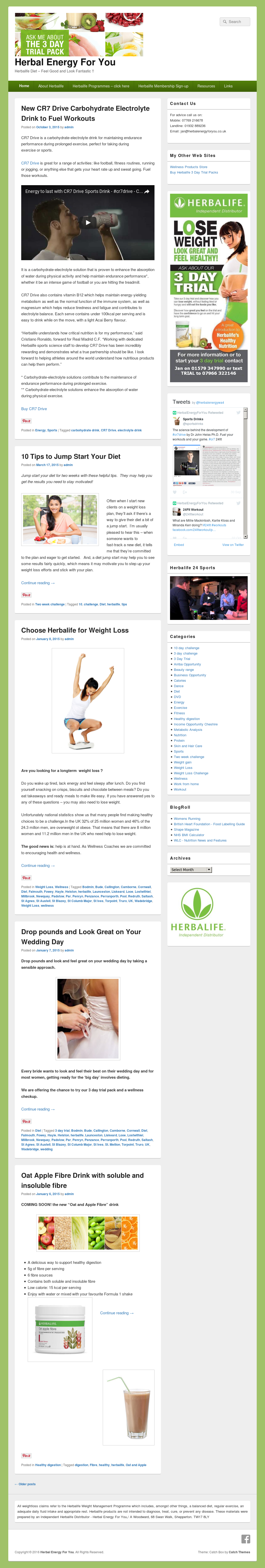 Herbal Energy For You - Independant Herbalife Distributor