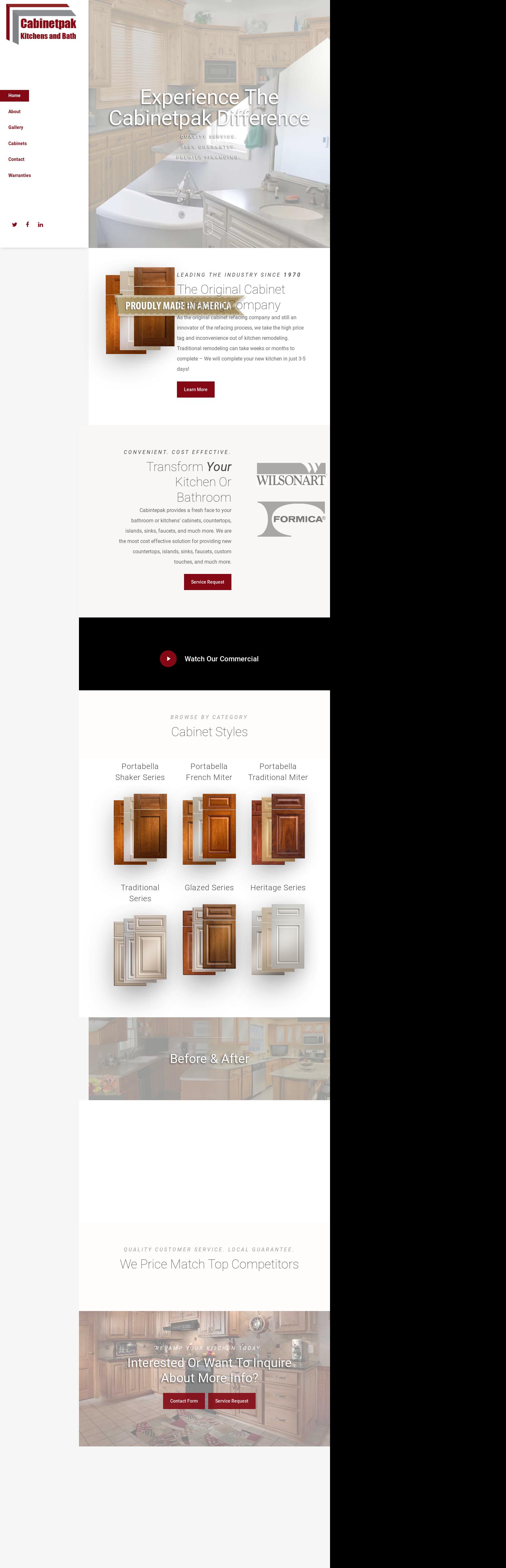 Gentil CABINETPAK KITCHENS Website History