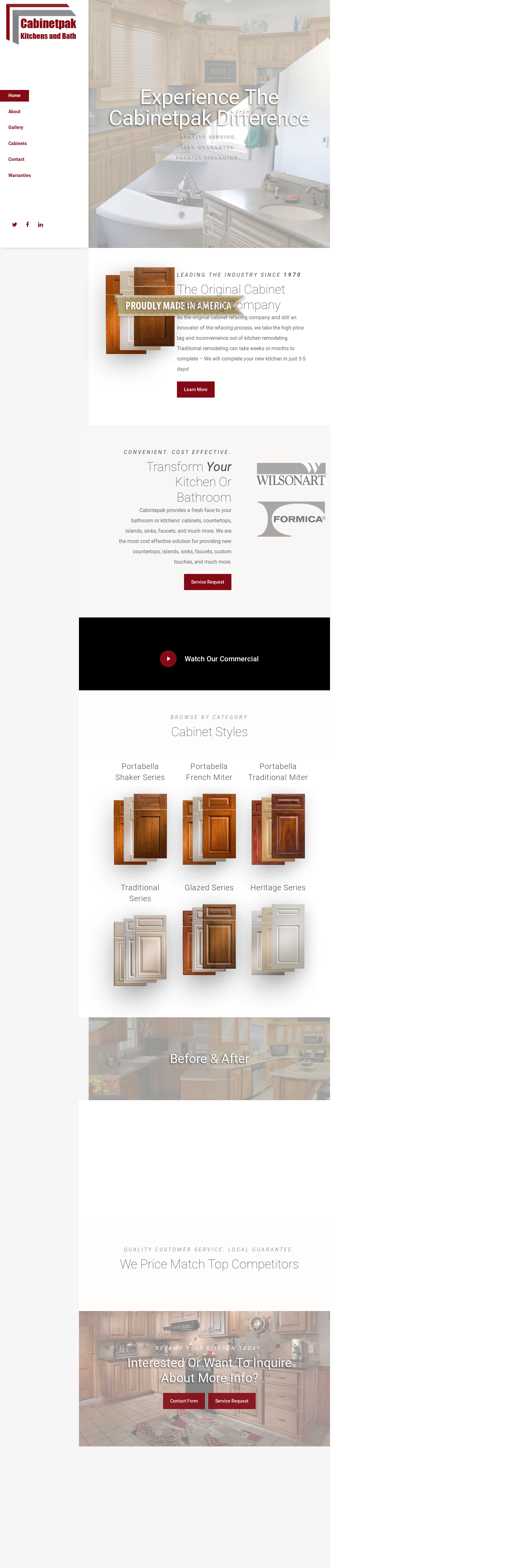 Genial CABINETPAK KITCHENS Website History