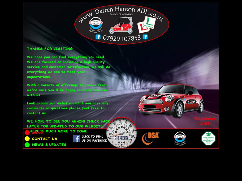 Darren Hanson Adi School Of Motoring website history
