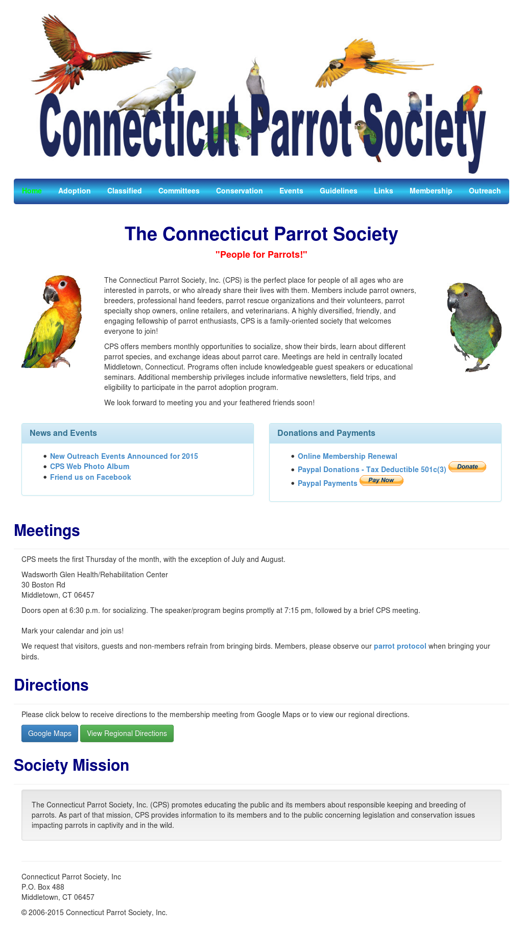Connecticut Parrot Society Competitors, Revenue and Employees