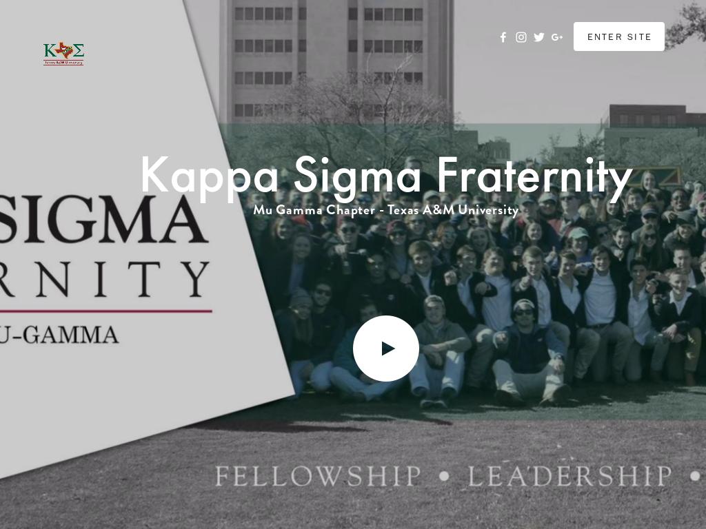 bcff1beb4b Kappa Sigma Fraternity - Mu Gamma Competitors