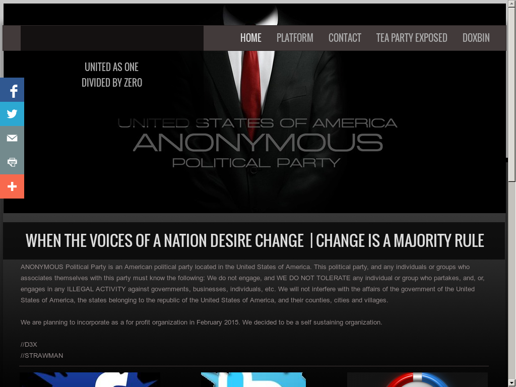 Anonymous Political Party Competitors, Revenue and Employees - Owler