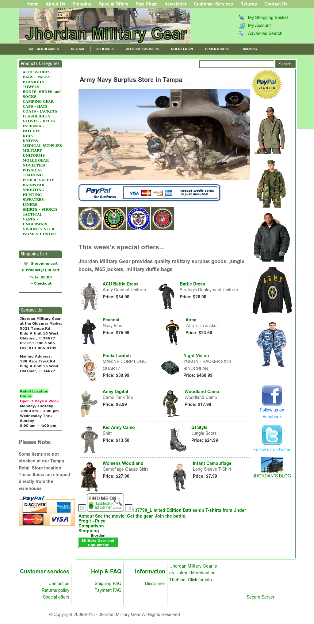 Jhordan Military Gear Competitors, Revenue and Employees