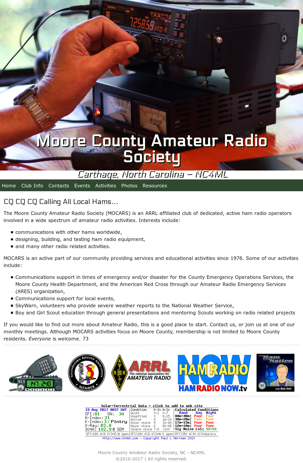 With you amateur radio operators weather north carolina commit