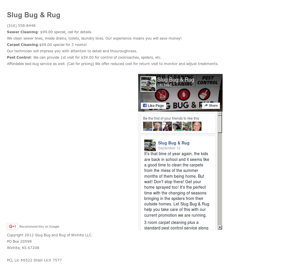 Slug Bug And Rug Of Wichita Competitors