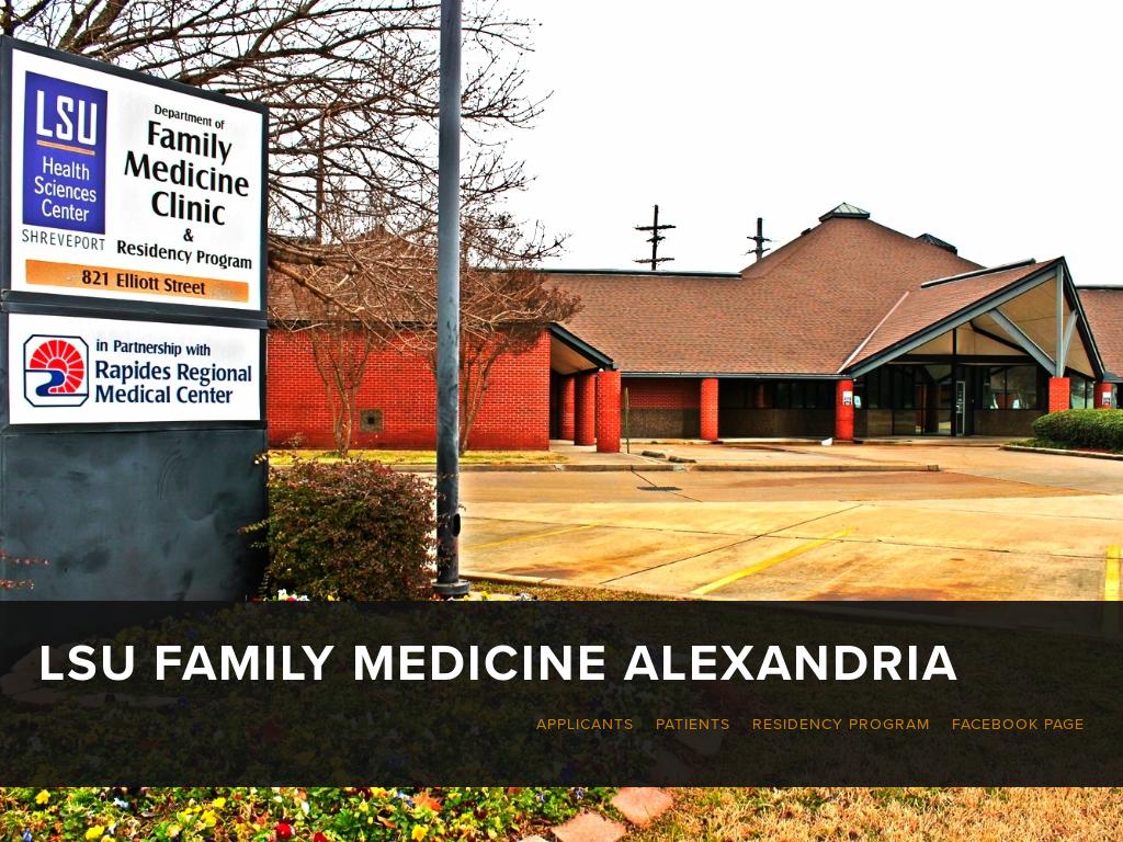 Tigerdocs (Lsu Family Medicine Residency In Alexandria