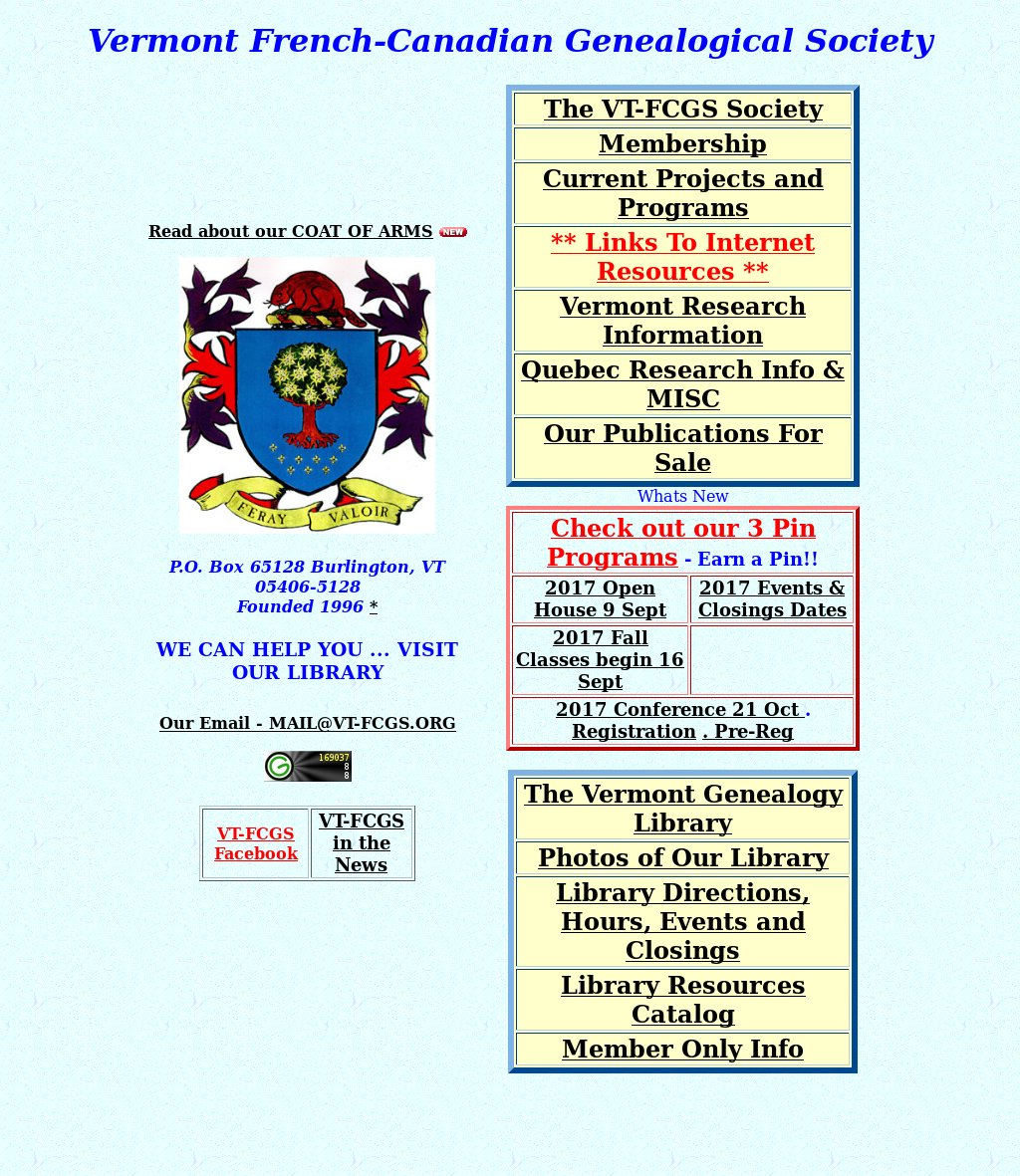Vermont French Canadian Genealogical Society Competitors