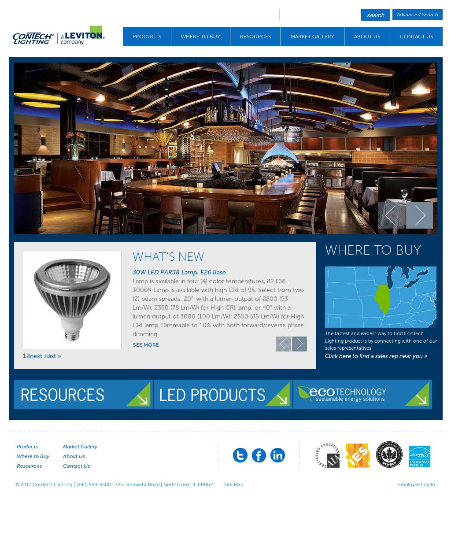 Con Tech Lighting Website History